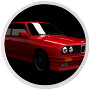 Bmw M3 E30 Round Beach Towel