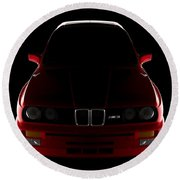 Bmw M3 E30 - Front View Round Beach Towel