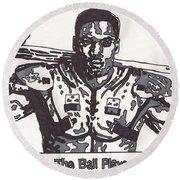 Bo Jackson The Ball Player Round Beach Towel