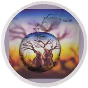 Boabob Tree Round Beach Towel