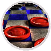 Board Games Checker Board Round Beach Towel