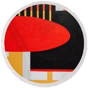 Board Meeting Round Beach Towel