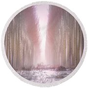 Boardman Tree Farm  Round Beach Towel