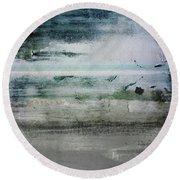 Boardwalk Blues 2- Art By Linda Woods Round Beach Towel
