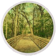 Boardwalk Round Beach Towel by Lewis Mann