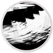 Boat #1 4669 Round Beach Towel