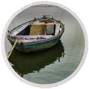 boat at Ganges Round Beach Towel