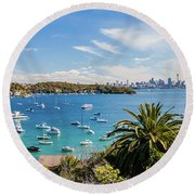 Boat Life Round Beach Towel