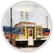 Boat Rental Near Duluth Canal Park Round Beach Towel