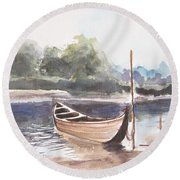 Boat Ride Round Beach Towel