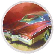 Boat Tail Buick Round Beach Towel