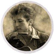 Bob Dylan Round Beach Towel