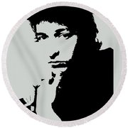 Bob Dylan Poster Print Quote - The Times They Are A Changin Round Beach Towel
