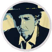 Bob Dylan Round Beach Towel by Greatom London