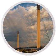 Bob Kerry Bridge At Sunrise-3 Round Beach Towel