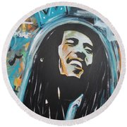 Bob The King Round Beach Towel