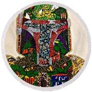 Boba Fett Star Wars Afrofuturist Collection Round Beach Towel