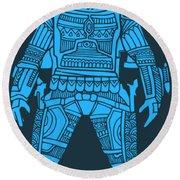 Boba Fett - Star Wars Art, Blue Round Beach Towel