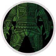 Boba Fett - Star Wars Art, Green 02 Round Beach Towel