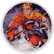Bobby Hull Round Beach Towel