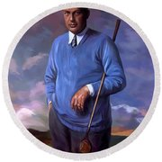 Bobbyjones-openchampion1926 Reproduction Round Beach Towel by Tim Gilliland