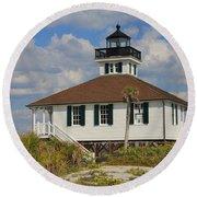 Boca Grande Lighthouse View Three Round Beach Towel by Rosalie Scanlon