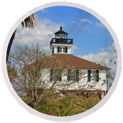 Boca Grande Lighthouse View Two Round Beach Towel by Rosalie Scanlon