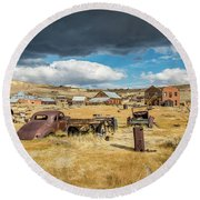 Bodie California Round Beach Towel