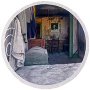 Bodie House Of Ill Repute Round Beach Towel