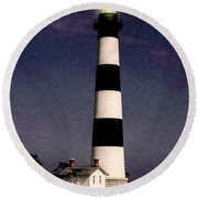Round Beach Towel featuring the photograph Bodie Island Light Station by Penny Lisowski