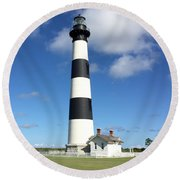 Bodie Island Lighthouse Cape Hatteras Round Beach Towel by Dorothy Maier