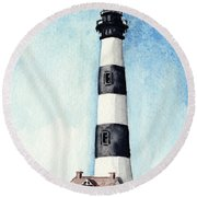 Bodie Island Lighthouse Outer Banks North Carolina Round Beach Towel