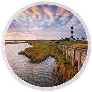 Bodie Island Lighthouse Outer Banks North Carolina Obx Nc Round Beach Towel