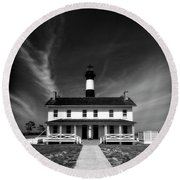 Bodie Light And Keepers Quarters Round Beach Towel