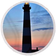 Bodie Lighthouse 7/18/16 Round Beach Towel