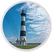 Bodie Lighthouse Round Beach Towel