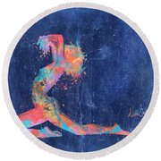 Bodyscape In D Minor - Music Of The Body Round Beach Towel