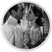 Bogart And Bergman Eternal Round Beach Towel
