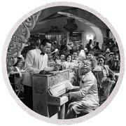 Bogart Dooley Wilson Casablanca 1942 Round Beach Towel