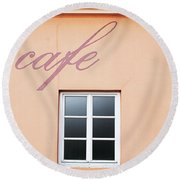 Bohemian Cafe- By Linda Woods Round Beach Towel