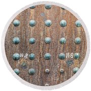 Boiler Rivets Round Beach Towel