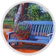 Boise Edwards Nursery Round Beach Towel