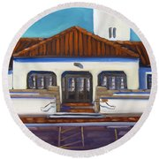 Boise Train Depot Round Beach Towel