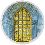 Bok Tower Entrance  Round Beach Towel