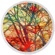 Bold And Colorful Round Beach Towel