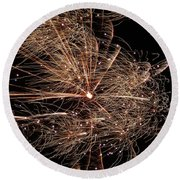 Round Beach Towel featuring the photograph Bold Burst #0711 by Barbara Tristan