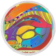 Bold Organic - Life Is Bright With Variety Round Beach Towel