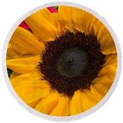 Bold Sunflower Round Beach Towel