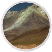 Bolivian Highland Round Beach Towel by Gabor Pozsgai