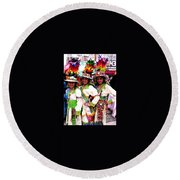 Bolivian University Student Dancers 1 Round Beach Towel